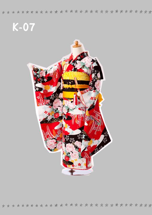七五三 7歳女 和装 K-7 外出レンタル 13,000円